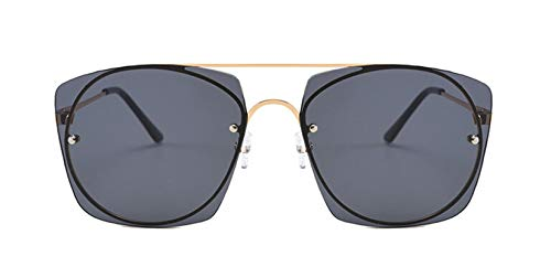 Sonnenbrille Lustig Herren Sonnenbrille Damen Metallgestell Vintage Retro Fahrradbrille Schwarz
