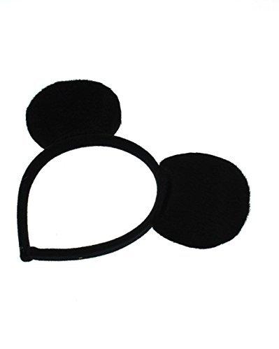 Maus Kostüm Ohren Stirnband (Zac's Alter Ego Schwarze Maus Ohren Stirnband für Erwachsene und)