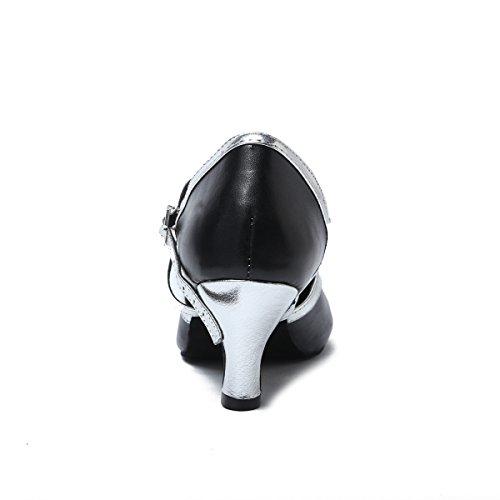 Miyoopark , Damen Tanzschuhe Black-6cm Heel