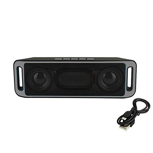 Wiederaufladbarer drahtloser Bluetooth 4.0 Lautsprecher im Freien tragbarer Bluetooth Lautsprecher Auto Subwoofer USB/TF / FM Stereo Radio Subwoofer,Gray