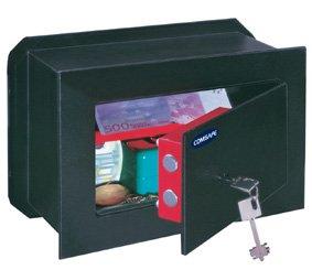 Rottner 3080 - Caja fuerte empotrable (cierre con llave), color negro