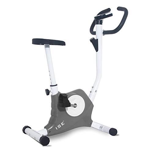 ISE Cyclette da Allenamento, F-Bike Bicicletta Fitness Bike Cardio Trainer per Ufficio/Casa, SY-8018 (Grigio)