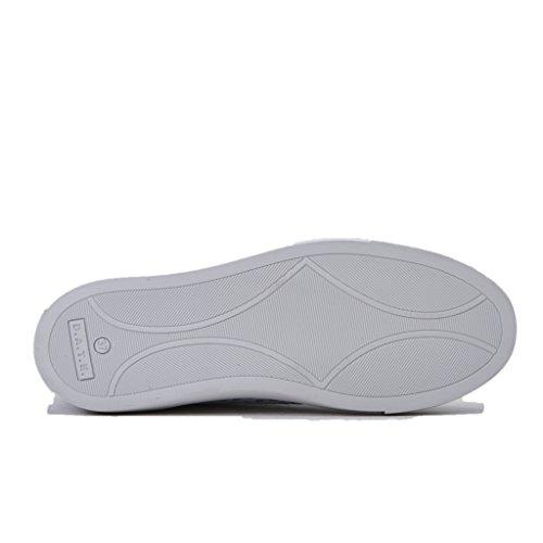 D.A.T.E. Sneakers Donna, Newman Perforated Glitter W/White/Blu, Perforato, in Pelle Colore Blu, Nuova Collezione Primavera Estate 2018 Bianco/Blu