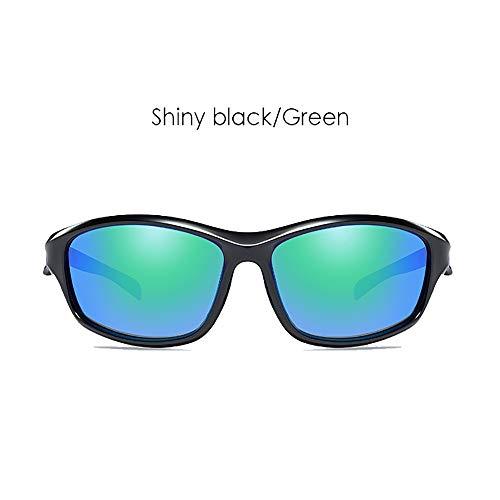 LDQLSQ Polarisierte Sonnenbrille Outdoor-Reiten Sport Sonnenbrille 8541 Sonnenschutz-Fahrrad Outdoor-Bergsteiger-Renktrelle,Green