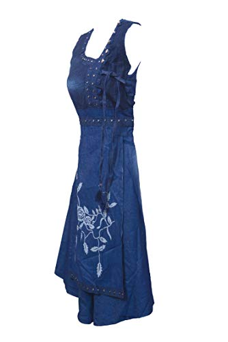 jyoti Women\'s Denim Cotton Soft Fabric Frock Style Kurti (Blue ,XL-Large)