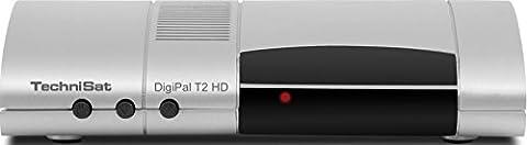 TechniSat DIGIPAL T2 HD DVB-T2 HD Receiver (DVB-T/DVB-T2, H.265, HDTV, HDMI, Irdeto Zugangssystem, USB 2.0 Mediaplayer, 12V) silber