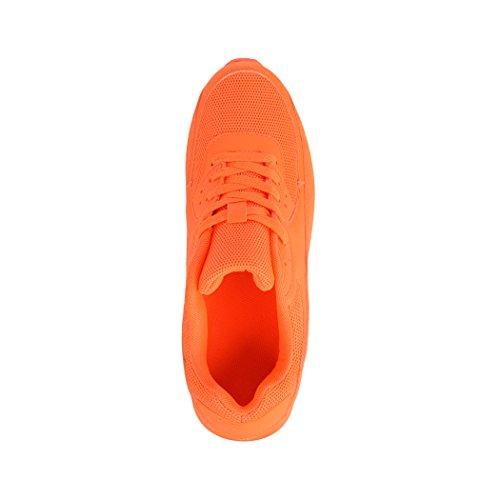 Elara Trendige Unisex Sneaker   Damen Herren Kinder Sport Laufschuhe   Turnschuhe Orange New L.A.