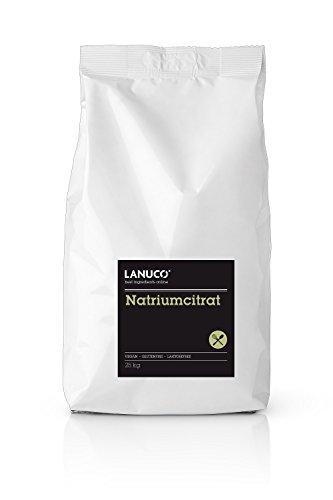 Natriumcitrat - 25 Kg Premium pur, 100% rein, Salz der Zitronensäure, TNC Trinatriumcitrat, KOSTENLOSER VERSAND (Pektin Für Marmelade Obst)