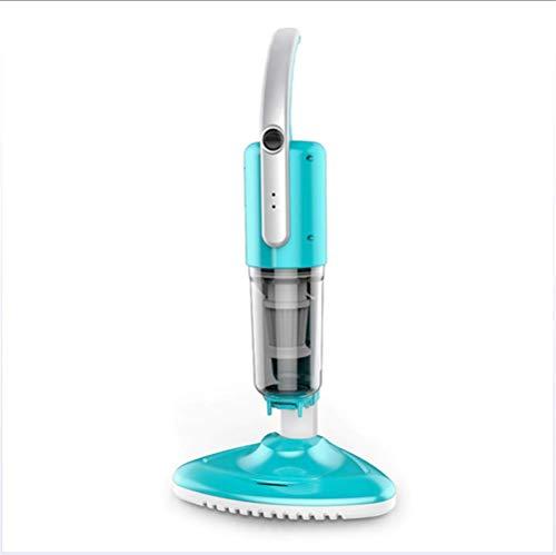 JIAHE Aspiradora de Cama y sofá con luz UV, Limpiador antialérgico del Sistema de 2 Motores Que Elimina el 99.9 por ciento de Las bacterias y los ácaros del Polvo Azul