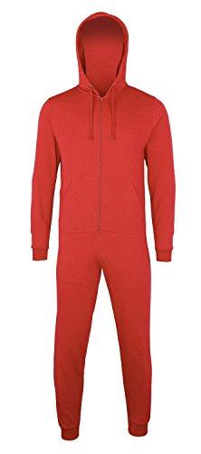 Sofasurfer® Overall Sweatoverall Jumpsuit Jumper mit und ohne Druck Red