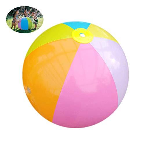 WYJHNL Wasserball-Sprinkler-aufblasbarer Spritzen-u. Spray-Ball, 29.5-Zoll-Spaß-Wasserbälle im Freien besprühen Spielzeug, befestigen an Gartenschlauch, für Kinder Kleinkind-Jungen-Mädchen