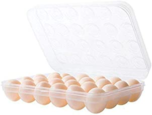 Comeonbaby® Plastic Egg Tray for Fridge with Lid for 2 Dozen 24 Eggs