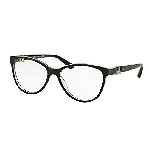 Bulgari Brillen Für Frau 4119B 5381, Black / Grey Crystal Kunststoffgestell, 52mm