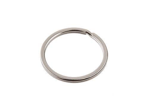 Gazechimp Key Fob Ring Rim Trim de Cl/é En Aluminium Argent/é+Bleu Anneaux Pour BMW