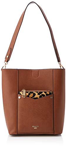 67bf1730a39dc Dune Womens Duckty Shoulder Bag Brown (Tan-Synthetic)