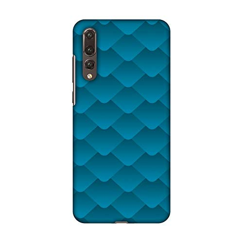 Hartschalen-Schutzhülle für Huawei P20 Pro (dünn, handgefertigt, zum Aufstecken, mit Bildschirmreinigungsset), Carbon Fibre Redux Aqua Blue 11