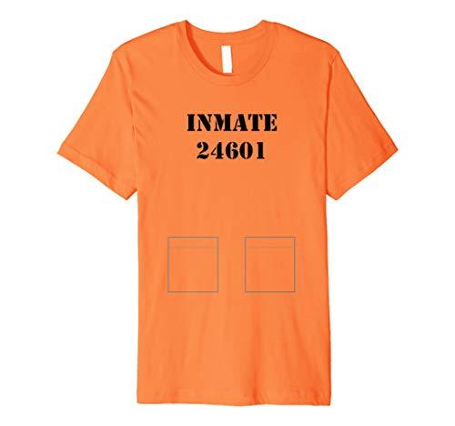 Gefangene, Gefängnis Inmate Kostüm Tshirt–leicht, Halloween Idee