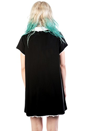 Disturbia Clothing - Robe - Uni - Manches Courtes - Femme Schwarz
