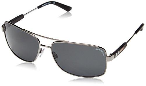 074 Rechteckig Sonnenbrille, 100387, Gunmetal, Gray ()