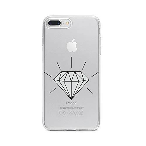 licaso Apple iPhone 7 Plus Handyhülle Smartphone Apple Case aus TPU mit Diamond 3D Print Motiv Slim Design Transparent Cover Schutz Hülle Protector Soft Aufdruck Lustig Funny Druck (Verlobungsring Protector)