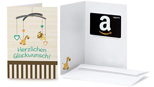 Amazon.de Geschenkkarte in Grußkarte (Baby Glückwünsche) - mit kostenloser Lieferung per Post