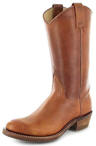 Sendra Boots Herren Cowboy Stiefel 5588 Tang Lederstiefel Braun 42 EU