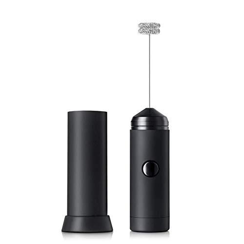 Woopower montalatte Elettrico a Batteria, frullatore Compatto Portatile con Supporto e Testa Doppia Molla Frusta Potente Macchina per Il caffè Mixer di Schiuma di Latte per Cappuccino, Latte