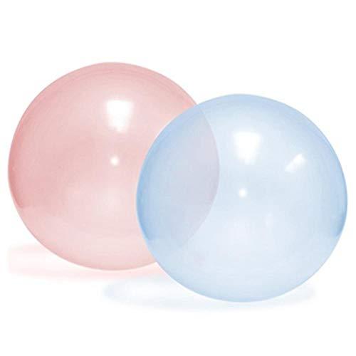 Belukies Übergroße Aufblasbare Wasserball, Strand Bubble Ball Für Sommer Strand Pool Party Supplies, Strand Spielzeug Für Kinder Erwachsene(2PCS) (Bälle Strand Aufblasbare)