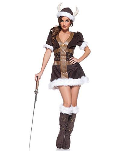 Erwachsene Für Wikinger Prinzessin Kostüm - Horror-Shop Wikinger Prinzessin Kostüm M