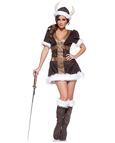 Wikinger Prinzessin Kostüm - Horror-Shop Wikinger Prinzessin Kostüm