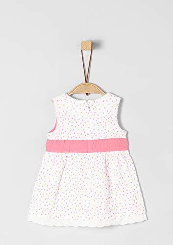 s.Oliver RED LABEL Junior Unisex - Baby Jersey-Kleid mit Spitzensaum white AOP 86 Weiß Junior Kleider