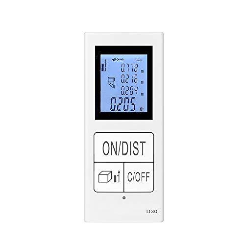 Mini Handheld Laser Entfernungsmesser, Baugger- 30m Digital USB Wiederaufladbare Laser Entfernungsmesser Tragbare Entfernungsmesser Diastimeter Entfernungsbereich Volumenmessung