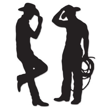 léopard 54225 Cowboy silhouettes, 88,9 cm et 94 cm