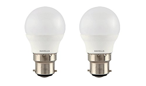 Havells LHLDERUEMK8X003PACKOF2 New Adore Base B22 3-Watt LED Bulb (Pack of 2, Coolday Light)