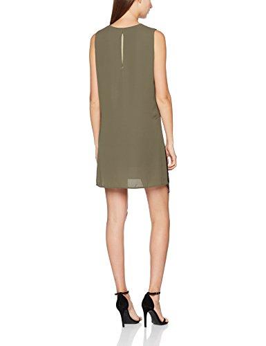 Liu Jo Jeans Onllive Love Trendy Stripe Ss Oneck Noos, Vestito Donna Marrone (Brazil Coffee 90820)