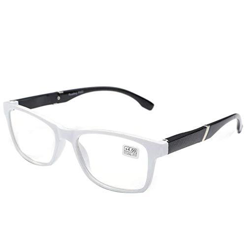 Rechteck Lesebrille Damen - Zhuhaixmy Vintage Rahmen Klar Linse Leichtgewicht Leser Unisex Brillen Dioptrie +1.00 bis +4.00