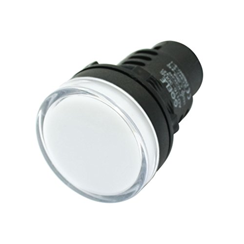 Weiß LED Pilot Signal Licht Lampe AC/24V DC 20mA AD116–30DS
