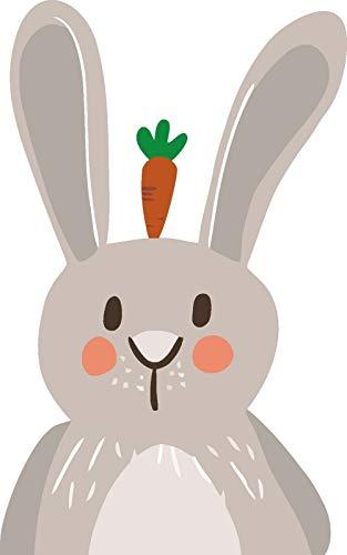 XINGMUZSH Pintura Decorativa Estilo Nórdico Minimalista Rábano En Cabeza De Conejo Póster con Impresión HD Decoración De Pared De Artista 70 × 100 Cm