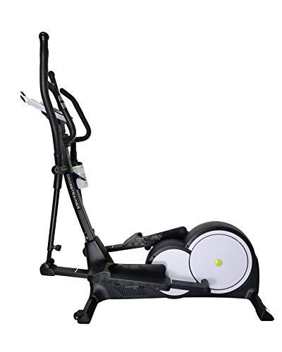Trainer4you Crosstrainer Ergometer C17 mit 16 kg Induktionsbremssystem, Pulssensoren, großem Display, 32 Widerstandsstufen