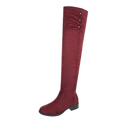 Stivali Stivali Coscia Ital Blocco E Bordeaux Scarpe design Donne Alla Delle qUHwIEH