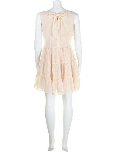 Darling Robe Crème Jolies appliques florales. Accroches Tillie en arrière sur jupe Ecru - Ecru