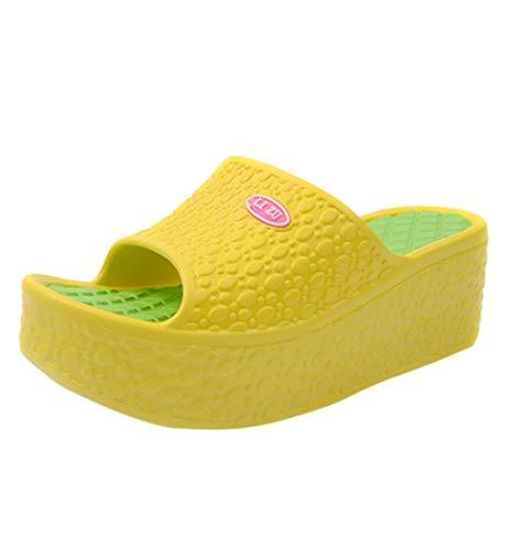 HupoopThick Soles Fashion Women Summer Sandals Platform Shoes Beach Shoes(Gelb,35) -