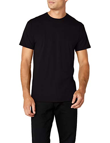 Fruit of the Loom Herren Premium Tee Single T-Shirt, schwarz, M -