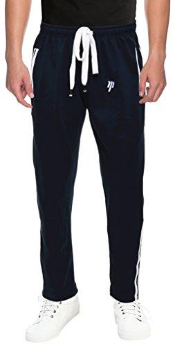 TMART Men's Cotton Track Pant (TRPLYDBRIB25200NVY--5XL, Navy Blue, 5XL)