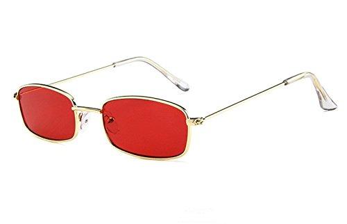 (Volon Brille Retro Sonnenbrille Für Herren und Damen klein Rechteck Freizeit Aktivitäten im Freien Rot Grau Gelb Weiß Dunkelgrün Rosa)