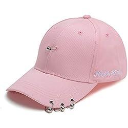 BAIHONG Sombreros Gota de aro Gorra de Beisbol Salvaje Macho Rosa
