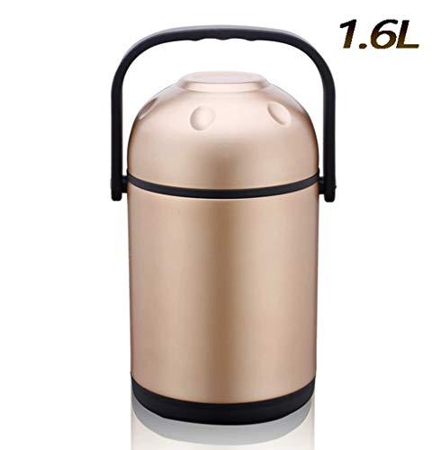 DAMAILE Isolier-Speisegefäß,Vakuum-Isolierbehälter 100{6757013f7044688170e295f9381da0178a29b665a776b87c2c340c487cf3d10e} dicht, Mobility, Metallfarbe, 1.6L, 6-8 Stunden Hitzebeständigkeit