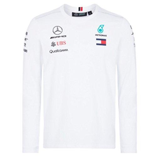 All-star Langarm-t-shirt (Mercedes AMG F1 Team Driver Puma Lange Ärmel T-shirt Weiß Offiziell 2018)
