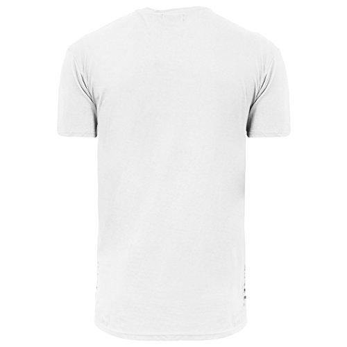 Brave Soul Herren T-Shirt weiß weiß Small Weiß