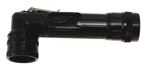 US Winkeltaschenlampe, groß, schwarz, mit Schutzbacken
